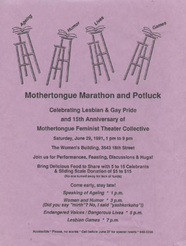 marathon and potluck